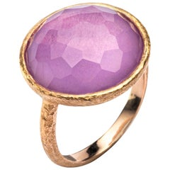 Alex Jona Amethyst 18 Karat Rose Gold Ring