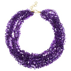 Alex Jona Amethyst Faceted Briolette Necklace