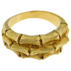 Alex Jona Bamboo 18 Karat Yellow Gold Band Ring