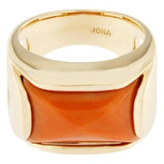 Alex Jona Coral 18 Karat Yellow Gold Band Ring