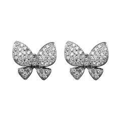 Alex Jona Diamond White Gold Butterfly Earrings