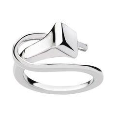 Alex Jona Equestrian Horse Nail 18 Karat White Gold Ring
