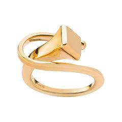 Alex Jona Equestrian Horse Nail 18 Karat Yellow Gold Ring