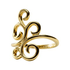 Alex Jona Ghirigori Swirl 18 Karat Gold Ring