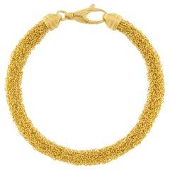 Alex Jona Gold-Plate Sterling Silver Woven Chain Bracelet