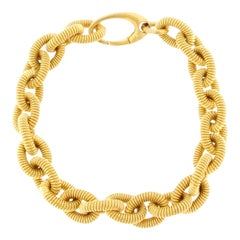 Alex Jona Gold-Plated Sterling Silver Twisted Wire Link Chain Bracelet