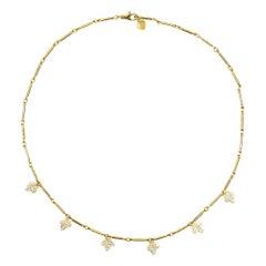 Alex Jona Ivy White Diamond Yellow Gold Necklace