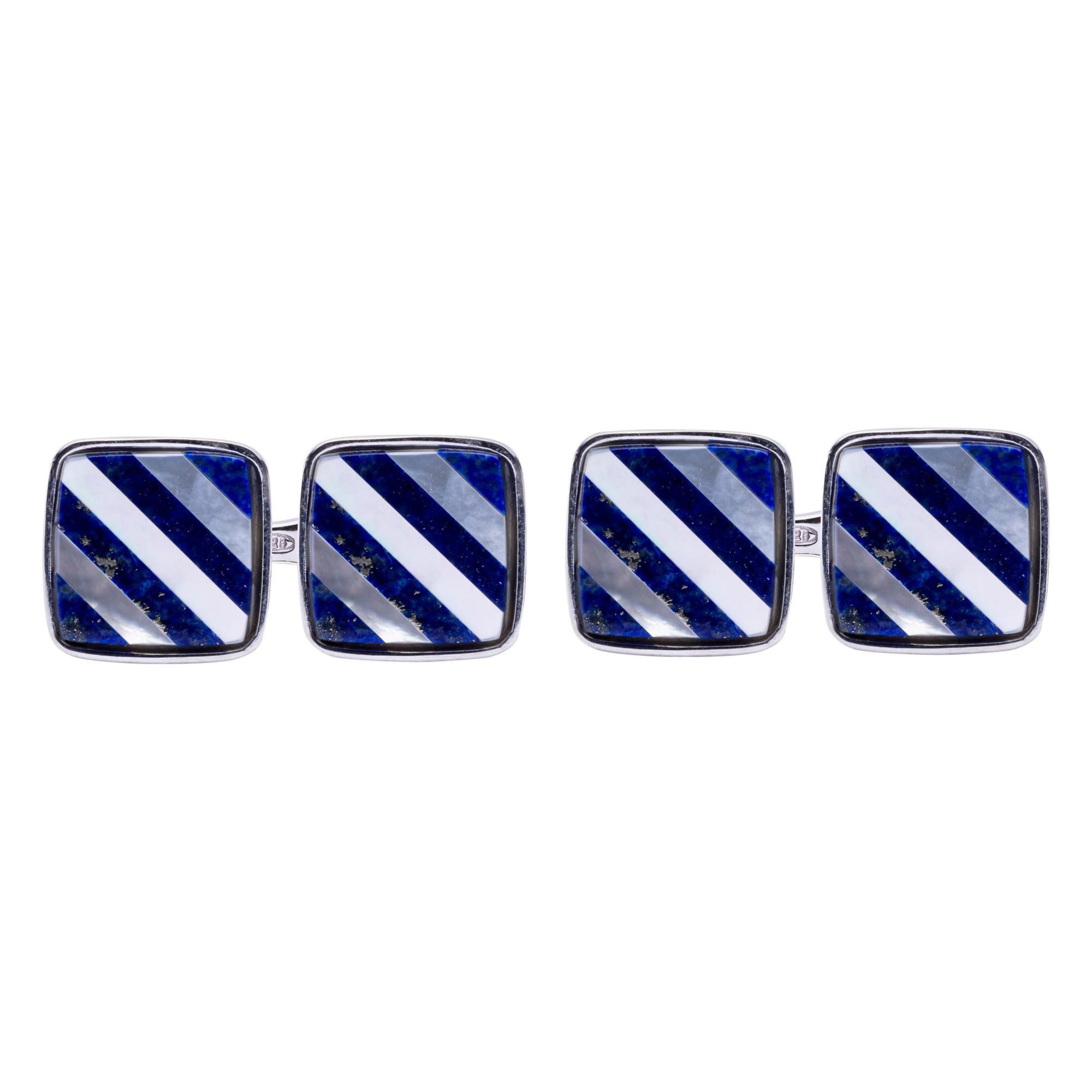 Alex Jona Lapis Lazuli Sterling Silver Cufflinks