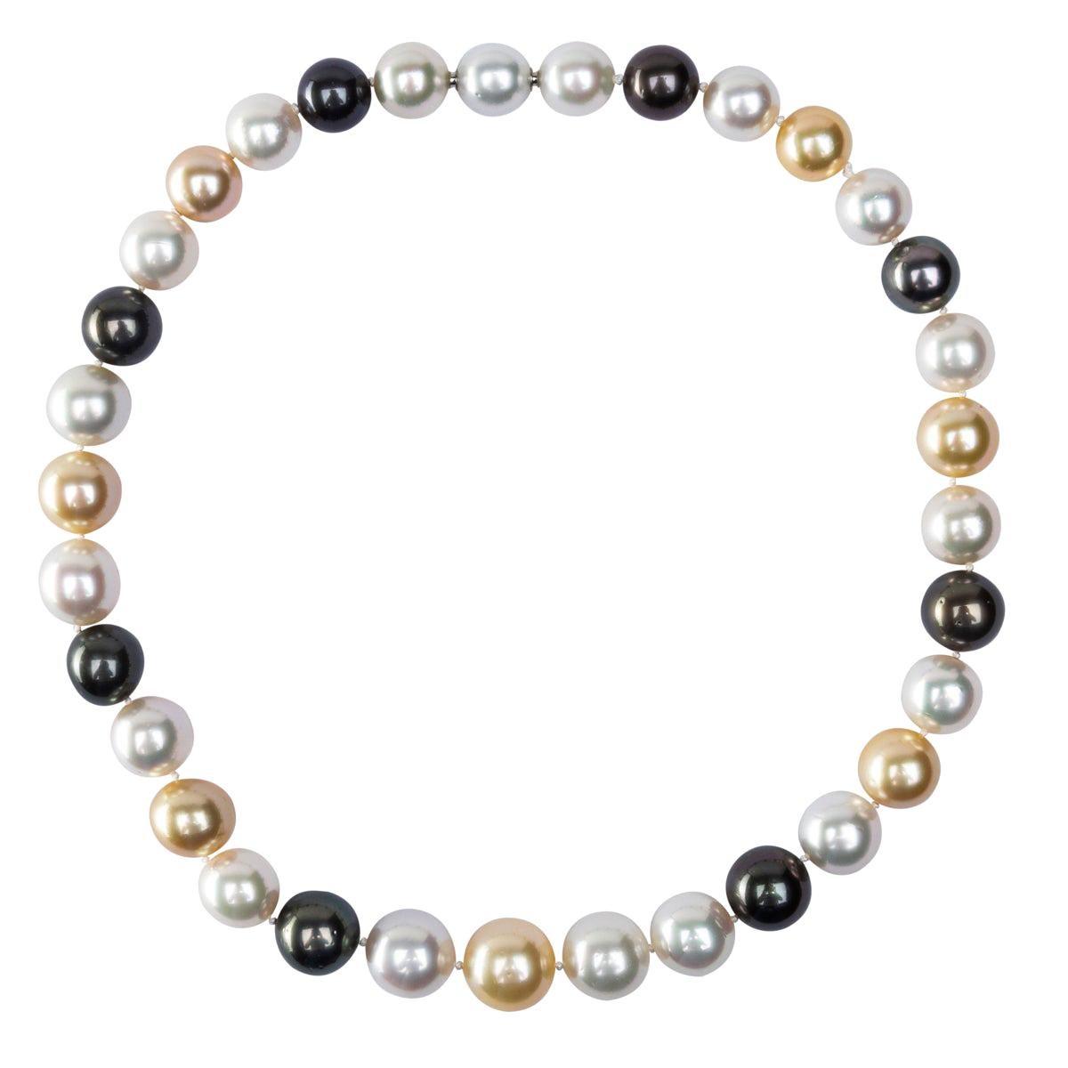 Alex Jona Multicolor South Sea and Tahiti Pearl Necklace