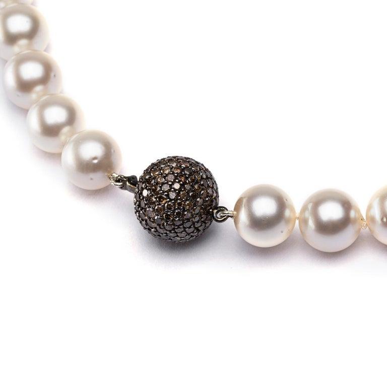 Round Cut Alex Jona South Sea Pearl Necklace For Sale