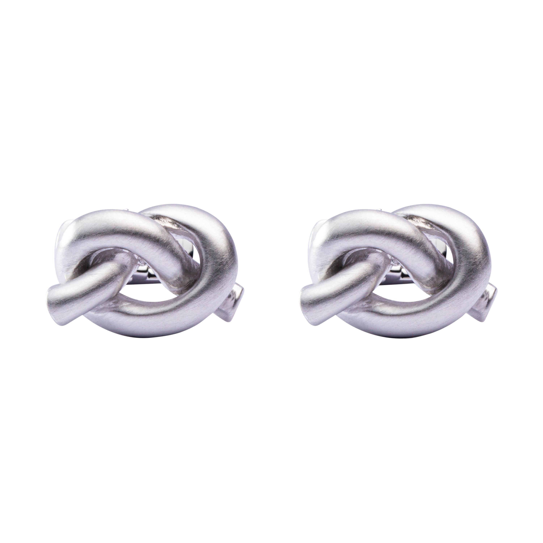 Alex Jona Sterling Silver Knot Cufflinks