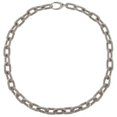 Alex Jona Sterling Silver Twisted Wire Chain Link Necklace