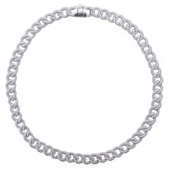 Alex Jona Sterling Silver Twisted Wire Curb Link Chain Necklace