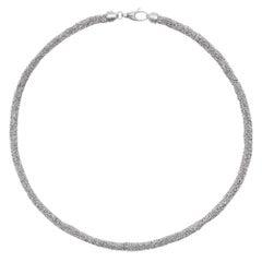 Alex Jona Sterling Silver Woven Chain Necklace