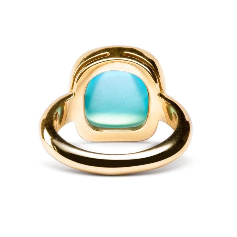 Alex Jona Turquoise Quartz 18 Karat Yellow Gold Ring For Sale 1