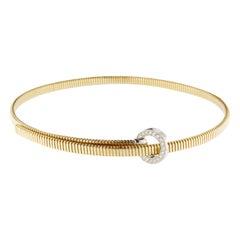 Alex Jona White Diamond 18 Karat Yellow Gold Tubogas Belt Choker Necklace