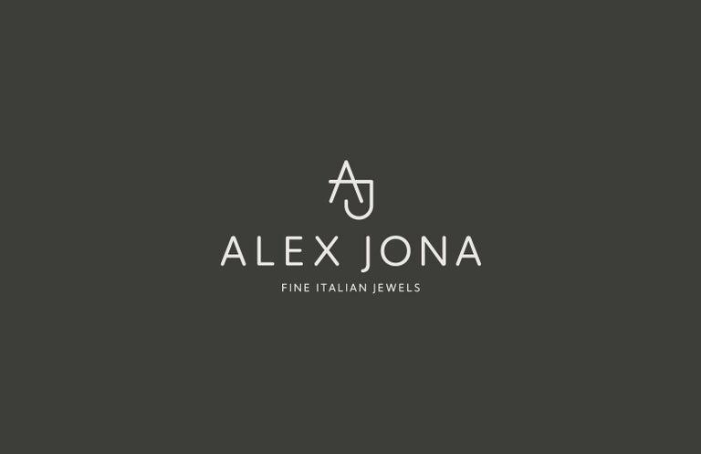 Alex Jona White Diamond White Gold Band Ring For Sale 2