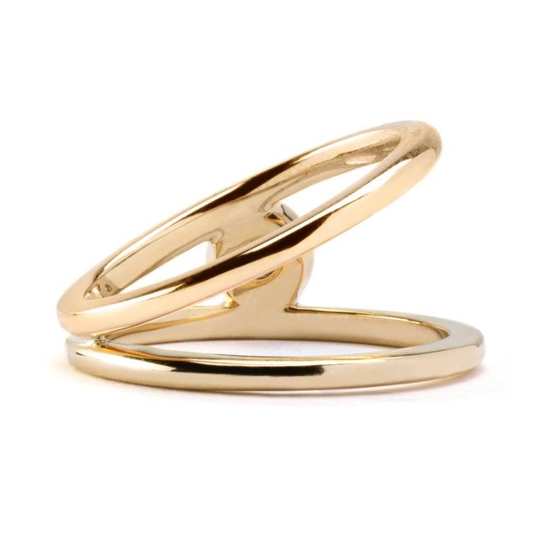 Alex Jona White Diamond Yellow Gold Solitaire Ring For Sale 1
