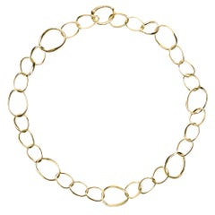 Alex Jona Yellow Gold Curb Link Chain Necklace