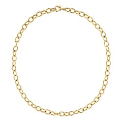 Alex Jona Yellow Gold Link Chain Necklace