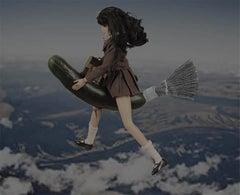 Flying School Girl Barbies Series by Alex Khomski Digital Print on Canvas