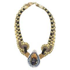 Alex & Lee Multicolor Macrame Seashell Necklace