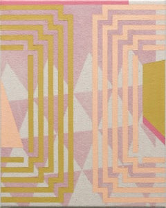 Embracing Impermanence- Abstract Geometric, Pink, Magenta Painting on Canvas
