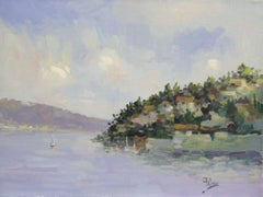Blue Bay-Acrylic on Canvas. Signed, comes with COA