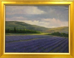 Lavender Hills-Framed Original Oil Painting on Canvas, with COA
