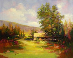 Meadows House-Acrylic on Unstretched Canvas. Signed by Artist, comes with COA