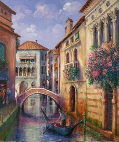 Romantic Venice-Oil on Canvas. Signed by Artist, comes with COA