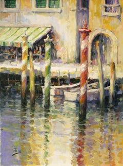 Venetian Gold-Oil on Unstretched Canvas. Signed, comes with COA