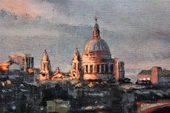 Sundown (Southbank), Alex Rennie, Oil on board, Original painting, London art