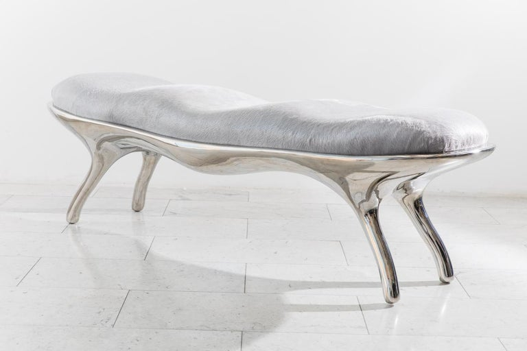Contemporary Alex Roskin, Biche Bench, USA For Sale