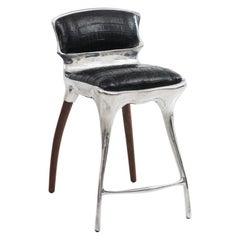 Alex Roskin, High Chair / Bar Stool in Aluminum, USA