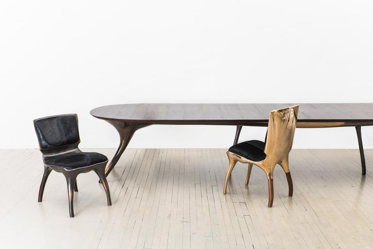 Bronze Alex Roskin, Monumental Dining Table, USA For Sale