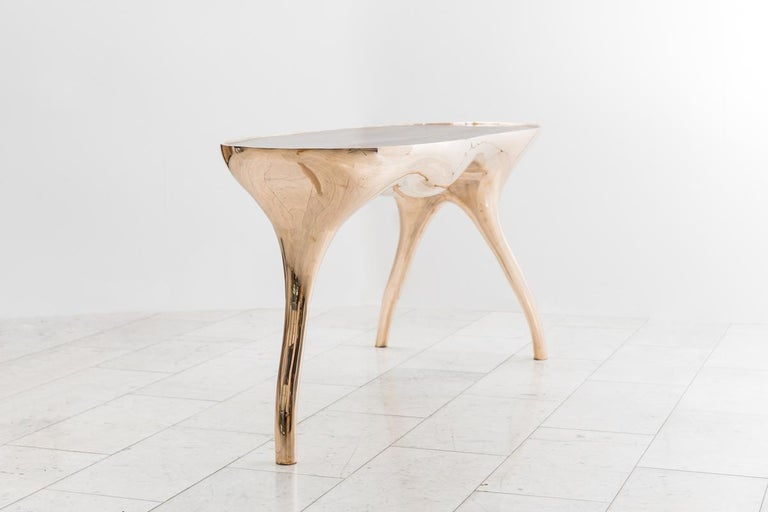 American Alex Roskin, Trois Jambes Console Table, USA For Sale
