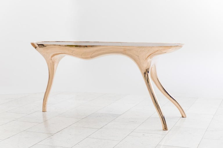 Contemporary Alex Roskin, Trois Jambes Console Table, USA For Sale