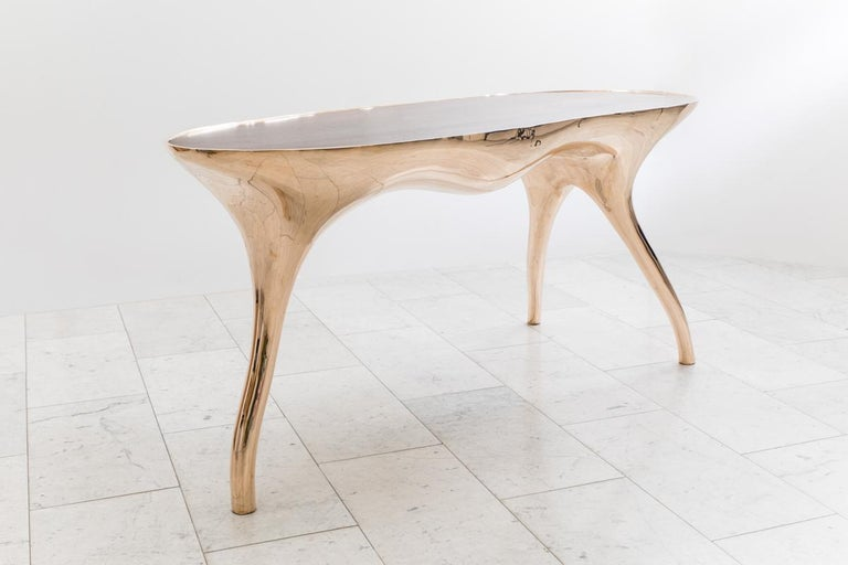 Alex Roskin, Trois Jambes Console Table, USA For Sale 2