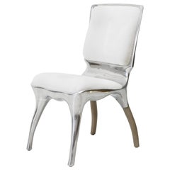 Alex Roskin, Tusk High Chair in Polished Aluminum, USA
