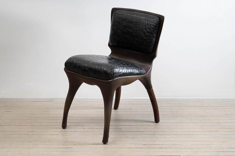 Alex Roskin, Tusk Chair in Aluminum with Bronze Plating, USA For Sale 4