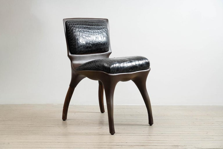 Alex Roskin, Tusk Chair in Aluminum with Bronze Plating, USA In New Condition For Sale In New York, NY