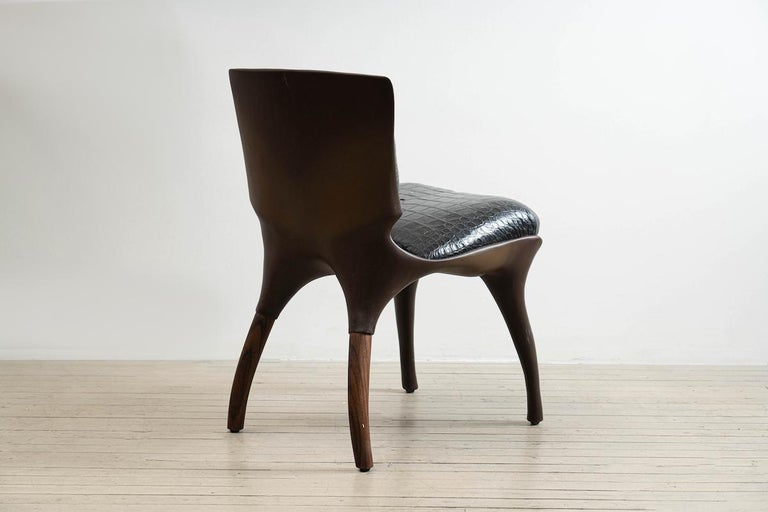 Alex Roskin, Tusk Chair in Aluminum with Bronze Plating, USA For Sale 2