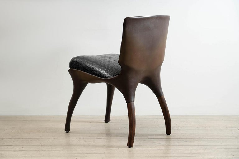Alex Roskin, Tusk Chair in Aluminum with Bronze Plating, USA For Sale 3