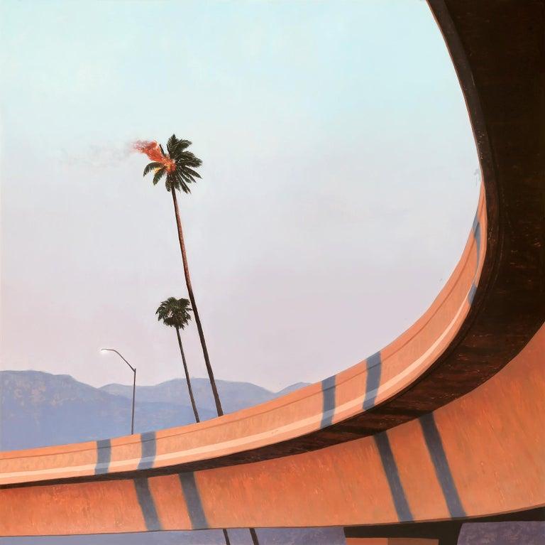 Alex Roulette Landscape Painting - Palm Fire