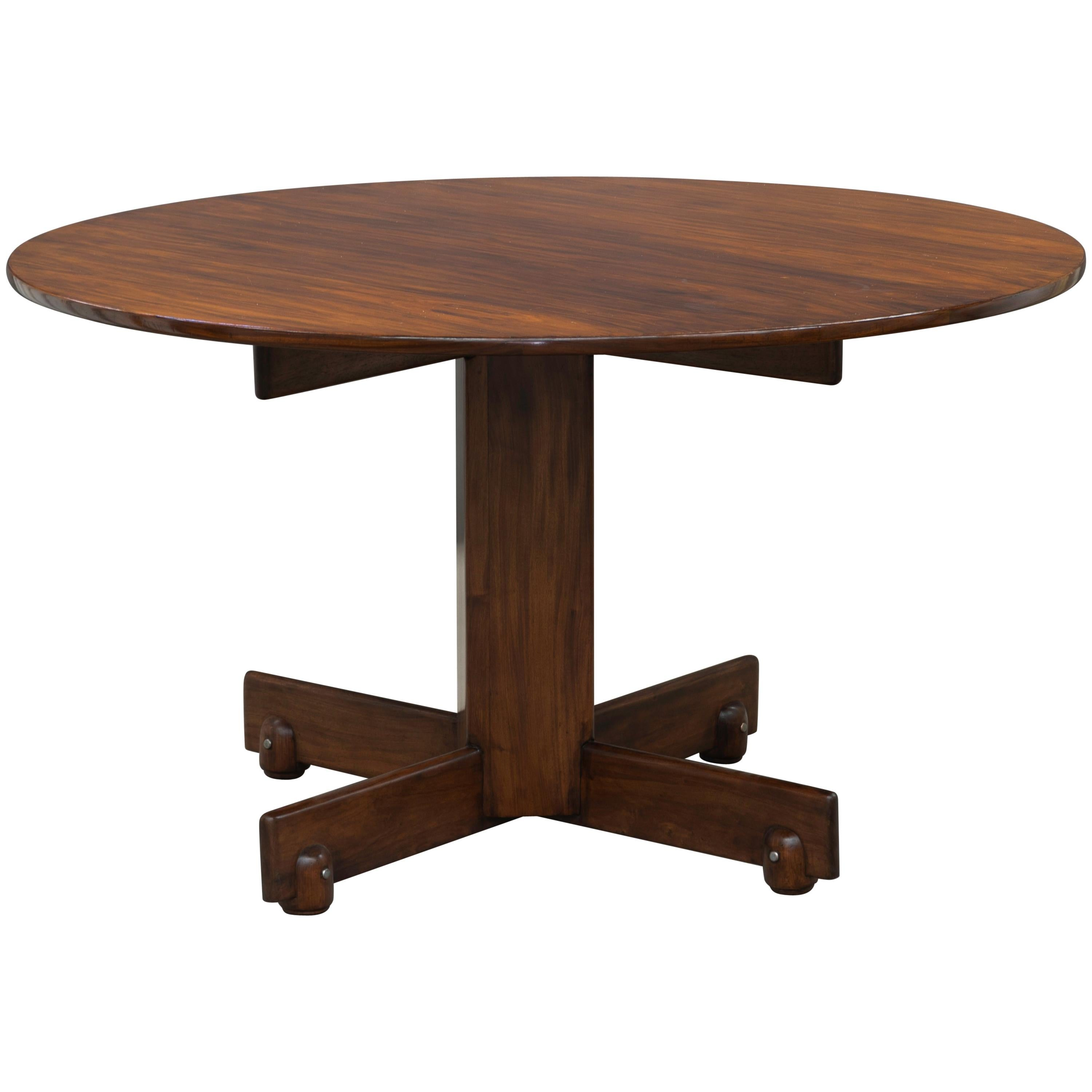 """""""Alex"""" Round Dining Table by Sergio Rodrigues, Brazilian Midcentury Design"""