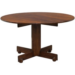 """Alex"" Round Dining Table by Sergio Rodrigues, Brazilian Midcentury Design"
