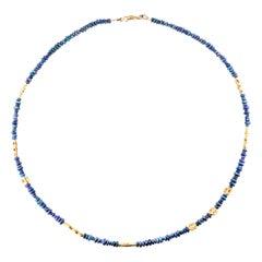 Alex Sepkus 18 Karat Gold Flora Necklace with Australian Black Opal Beads