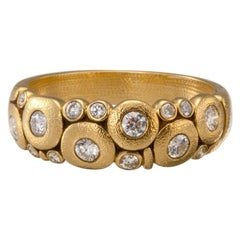 """Alex Sepkus """"Candy"""" Dome Ring with Brilliant White Diamonds in 18 Karat Gold"""