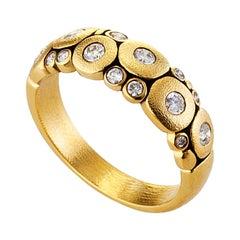 "Alex Sepkus Diamond Yellow Gold ""Candy"" Ring"